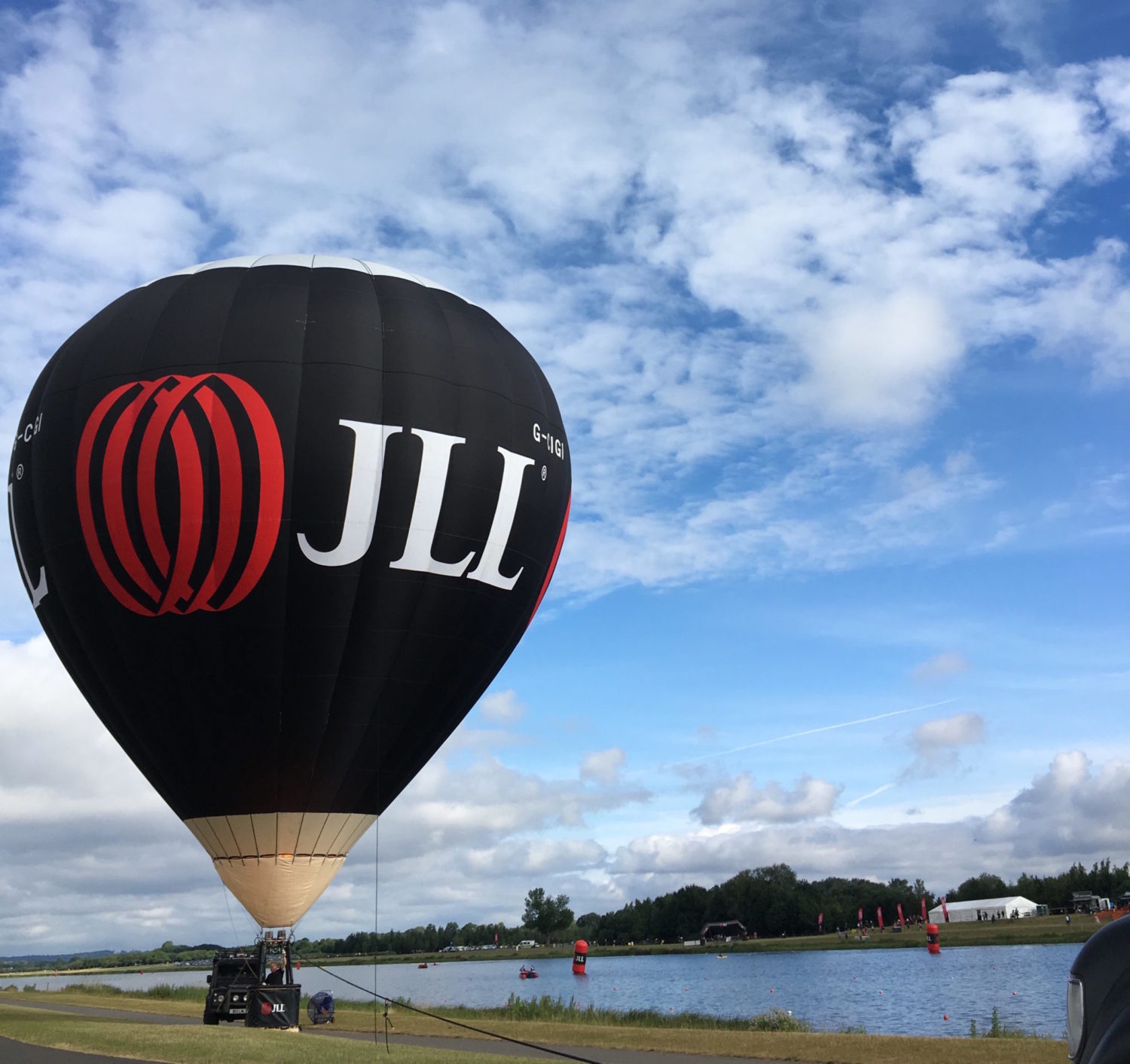 JLL's branded hot air balloon at #PropertyTri